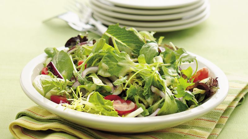 Mixed Green Salad Recipe with Dijon Vinaigrette